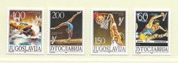 YOUGOSLAVIE  ( EU - 682 )   1987   N° YVERT ET TELLIER  N° 2111/2114    N** - 1945-1992 Socialist Federal Republic Of Yugoslavia
