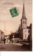 PAGNEY. - (Jura). Eglise Et Grande-Rue. CLB. A Circulé En 1923. CPA Animée. En Bon état. Voir Scan. - Autres Communes