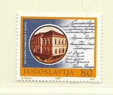 YOUGOSLAVIE  ( EU - 685 )   1987   N° YVERT ET TELLIER  N° 2118    N** - 1945-1992 Socialist Federal Republic Of Yugoslavia