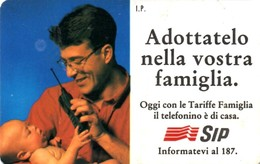 *ITALIA - SIP: TELEFONINO SIP* - Scheda Usata (NON CATALOGATA) - [3] Erreurs & Variétées