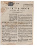 FASCICULE DE 4 PAGES LA VERITE SUR LES RAISINS SECS APPLIQUES AUX BOISSONS - Documentos Antiguos