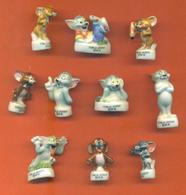 Serie Complète De 10 Feves Tom Et Jerry - Cartoons