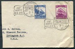 1935 Bahn. DR Deutsche Seepost Hamburg Sudamerika CAP NORTE H.S.D.G. Ship Schiffspost Cover. Rio De Janiero, Brazil. - Deutschland