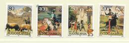 YOUGOSLAVIE  ( EU - 694 )   1987   N° YVERT ET TELLIER  N° 2132/2135    N** - 1945-1992 Socialist Federal Republic Of Yugoslavia