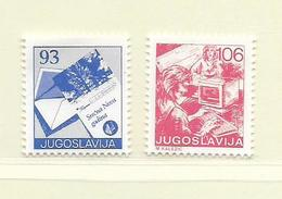 YOUGOSLAVIE  ( EU - 695 )   1987   N° YVERT ET TELLIER  N° 2136/2137    N** - 1945-1992 Socialist Federal Republic Of Yugoslavia