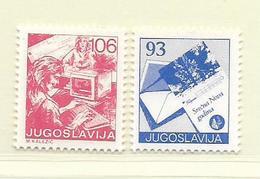 YOUGOSLAVIE  ( EU - 696 )   1987   N° YVERT ET TELLIER  N° 2136/2137    N** - 1945-1992 Socialist Federal Republic Of Yugoslavia