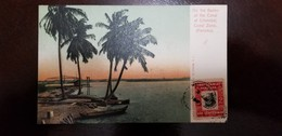 O) 1906 CIRCA- PANAMA, FERNANDEZ DE CORDOBA SC 187 2c, ON THE BANKS -OF THE CANAL AT CRISTOBAL IN CANAL ZONE-LANDSCAPE, - Panama
