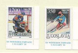 YOUGOSLAVIE  ( EU - 702 )   1988   N° YVERT ET TELLIER  N° 2145/2146    N** - 1945-1992 Socialist Federal Republic Of Yugoslavia