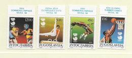 YOUGOSLAVIE  ( EU - 703 )   1988   N° YVERT ET TELLIER  N° 2147/2150    N** - 1945-1992 Socialist Federal Republic Of Yugoslavia