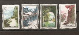 CHINE -  Timbres N°1865/68 - 1949 - ... People's Republic