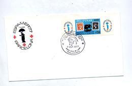 Lettre Cachet Post Office Espamer 77 Theme Taureau - Philippines