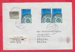 238561 / COVER 1990 - 5 + 3 X 55+20 C. Ceramic , ROTTERDAM ,  Netherlands Nederland FLAMME MALTA - Period 1980-... (Beatrix)
