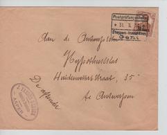 JS596/ Guerre-Oorlog 14-18 TP Oc 15 S/L.J.Vanden Berghe Asper C.Etappen Gent 1917 V.Antwerpen - [OC1/25] Gen.reg.