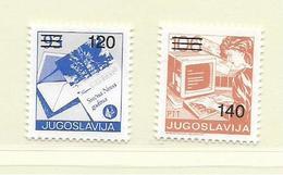 YOUGOSLAVIE  ( EU - 713 )   1988   N° YVERT ET TELLIER  N° 2163/2164    N** - 1945-1992 Socialist Federal Republic Of Yugoslavia