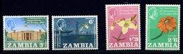 Zambie ** N° 22 à 25 - An. De L' Indépendance - Zambia (1965-...)