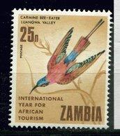 Zambie ** N° 60 - Oiseau - Guepier - Zambia (1965-...)