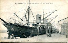N°66376 -cpa Le Havre -le Quai De Saïgon- - Commerce