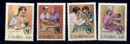 Zambie ** N° 437 à 440 - Campagne Pour La Survie De L' Enfant - Zambia (1965-...)
