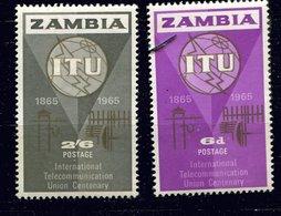 Zambie ** N° 18/19 - Union Internationale Des Télécom. - Zambia (1965-...)
