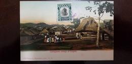 O) 1907 PANAMA, VASCO NUÑEZ DE BALBOA SCT 186 1c Green, CARTAGENITA VILLAGE AT EMPIRE - CULTURE-LANDSCAPE-ARCHITECTURE, - Panama