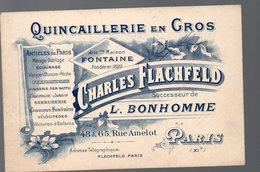 Paris 11e: Rue Amelot : Carte Illustrée CHARLES FLACHFELD Quncaillerie (PPP16036) - Publicités