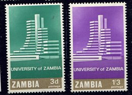 Zambie ** N° 28/29 - Inauguration De L' Université - Zambia (1965-...)