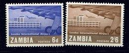 Zambie ** N° 32/33 -  - Inauguration De L' Aéroport De Lusaka - Zambia (1965-...)