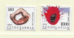 YOUGOSLAVIE  ( EU - 728 )   1988   N° YVERT ET TELLIER  N° 2180/2181    N** - 1945-1992 Socialist Federal Republic Of Yugoslavia