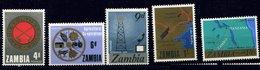 Zambie ** N° 34 à 38 - Série Courante - Zambia (1965-...)