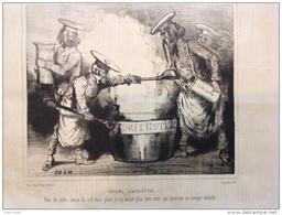 1848 CUISINE LÉGISLATIVE PAR CHAM Paru Dans LE CHARIVARI  / Mr THIERS / Pascal DUPRAT - Journaux - Quotidiens