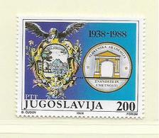 YOUGOSLAVIE  ( EU - 730 )   1988   N° YVERT ET TELLIER  N° 2185    N** - 1945-1992 Socialist Federal Republic Of Yugoslavia