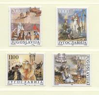 YOUGOSLAVIE  ( EU - 731 )   1988   N° YVERT ET TELLIER  N° 2186/2189    N** - 1945-1992 Socialist Federal Republic Of Yugoslavia