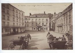 CPA 76 Dieppe Place Saint Saens Hôtel De Paris Et Théâtre N° 148 - Dieppe