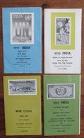 INDE - INDIA - Lot 4 Carnets - Commemoration Stamp - Nallanda College - Man On The Moon - United Nation - 1969 1970 - Inde