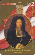 Nº136  TARJETA DE MALTA DE GRAND MASTER  EMANUEL DE RAMÓN PERELLOS Y ROCCAFULL - Malta