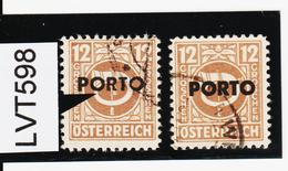 "LVT598 ÖSTERREICH 1946 Michl PORTO 194 PLATTENFEHLER ""RTO"" DÜNN Gestempelt - Abarten & Kuriositäten"