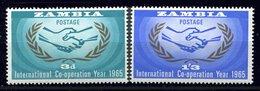 Zambie ** N°20/21 - Internationale Coopération - Zambia (1965-...)