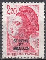 Saint-Pierre & Miquelon 1986 Yvert 464 O Cote (2015) 0.50 Euro Liberté De Gandon Cachet Rond - St.Pierre Et Miquelon