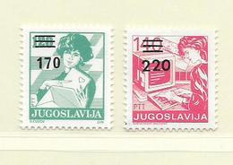 YOUGOSLAVIE  ( EU - 735 )   1988   N° YVERT ET TELLIER  N° 2197/2198    N** - 1945-1992 Socialist Federal Republic Of Yugoslavia