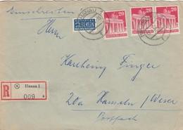 LETTRE. ALLEMAGNE. 2 BERLIN NOTOPFER RECOMMANDÉ HANAU - American/British Zone