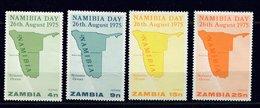 Zambie ** N° 147 à 150 - Journée De La Namibie - Zambia (1965-...)