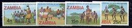 Zambie ** N° 164 à 167 - Festival D' Art Et Culture Au Nigéria - Zambia (1965-...)