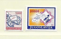 YOUGOSLAVIE  ( EU - 739 )   1989   N° YVERT ET TELLIER  N° 2209/2210    N** - 1945-1992 Socialist Federal Republic Of Yugoslavia