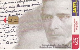 Nº 144 TARJETA DE URUGUAY DE ANTEL DE ARTIGAS - PUZZLE  (CHIP G5 ROJO) - Uruguay