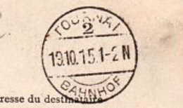 Deux Cartes Postales Anciennes Envoyées Par Un Soldat Allemand En 1915 / Oblitération Bahnhof Et Bahnpost - Documenten