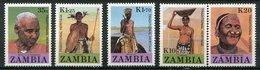 Zambie ** N° 424 à 428 - Héritage Traditionnel - Zambia (1965-...)