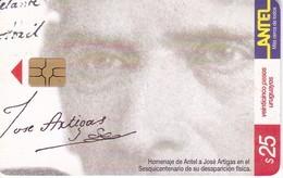 Nº 145 TARJETA DE URUGUAY DE ANTEL DE ARTIGAS - PUZZLE  (CHIP G5 ROJO) - Uruguay