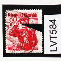 LVT584 ÖSTERREICH 1948 Michl 905 I PLATTENFEHLER FEHLENDER DAUMEN Gestempelt - Abarten & Kuriositäten