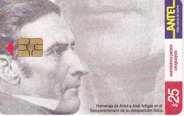 Nº 146 TARJETA DE URUGUAY DE ANTEL DE ARTIGAS - PUZZLE  (CHIP G5 ROJO) - Uruguay