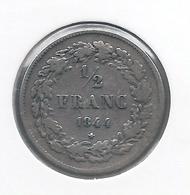 LEOPOLD I * 1/2 Frank 1844 * Fraai / Z.Fraai * Nr 9799 - 1831-1865: Léopold I